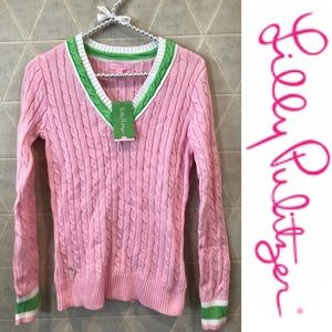 Lilly Pulitzer v-neck sweater palm beach NWT